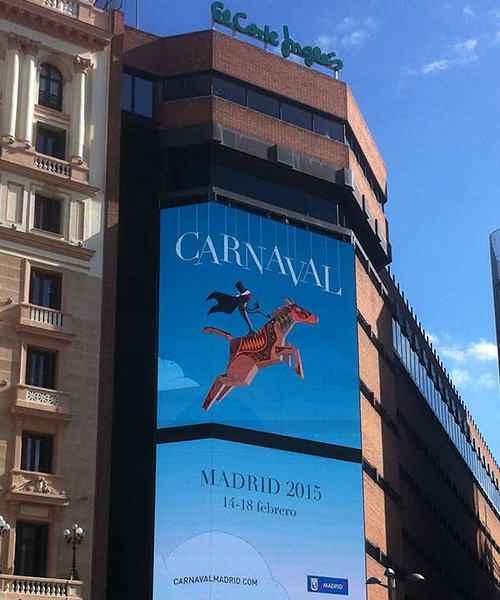 spot animacion motion graphics carnaval madrid 2015. pantallas callao Corte Ingles Gran via spot animacion motion graphics carnaval madrid 2015
