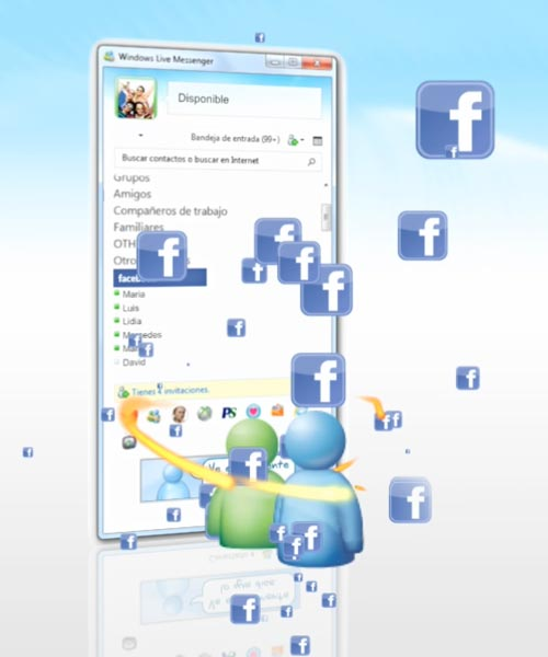 spot animacion motion graphics MiCROSOFT Windows Live Messenger y Facebook